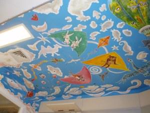 Plafond de la Salle de Réveil enfants - Clinique Edith Cavell